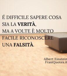 Albert Einstein | Frasi sulla verità