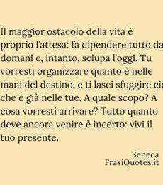 Frasi Seneca vivi il tuo presente | Frasi attesa