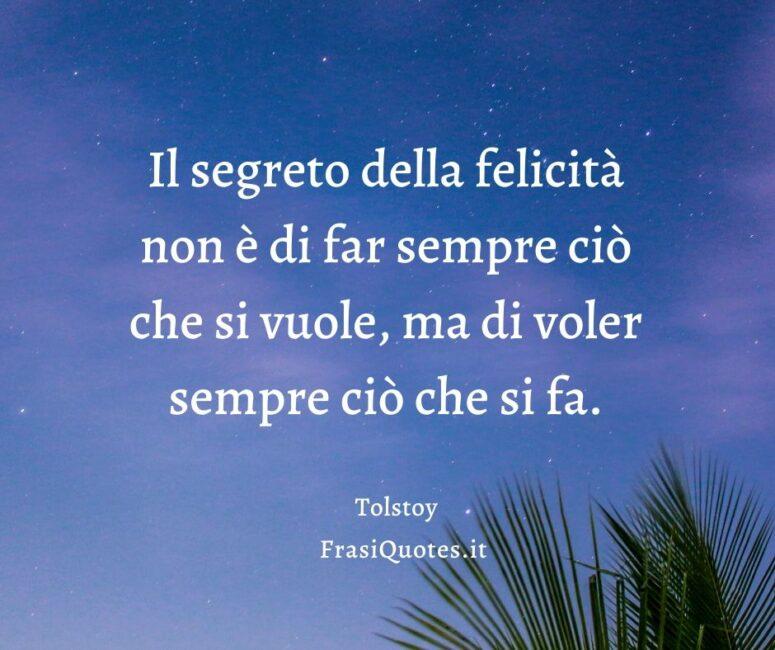 Frasi felicità Tolstoy