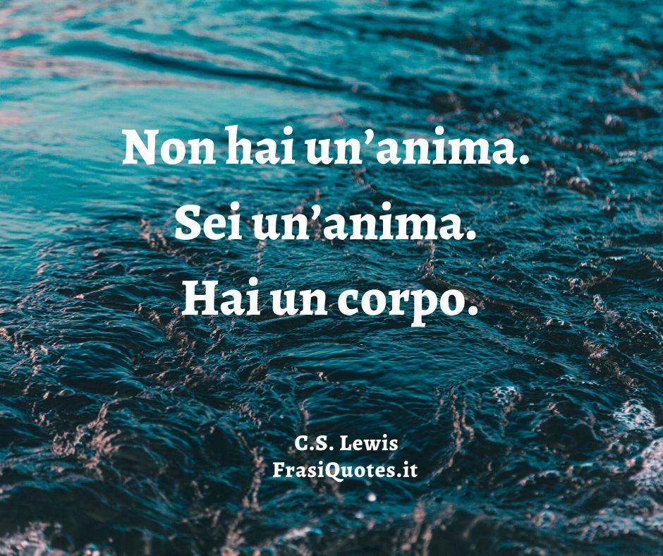 C.S. Lewis   Frasi sull'anima
