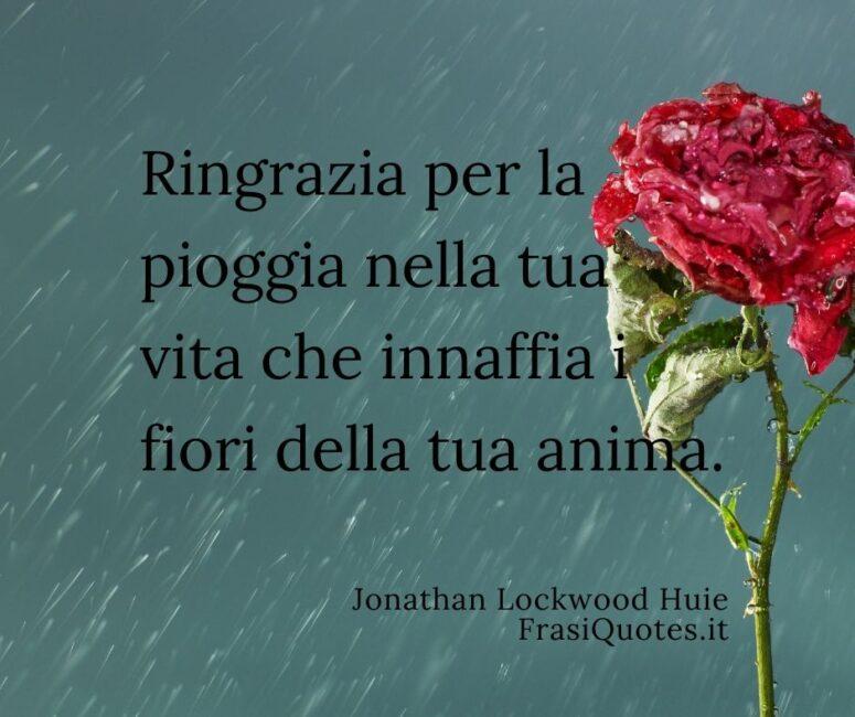 Frasi poetiche sulla pioggia