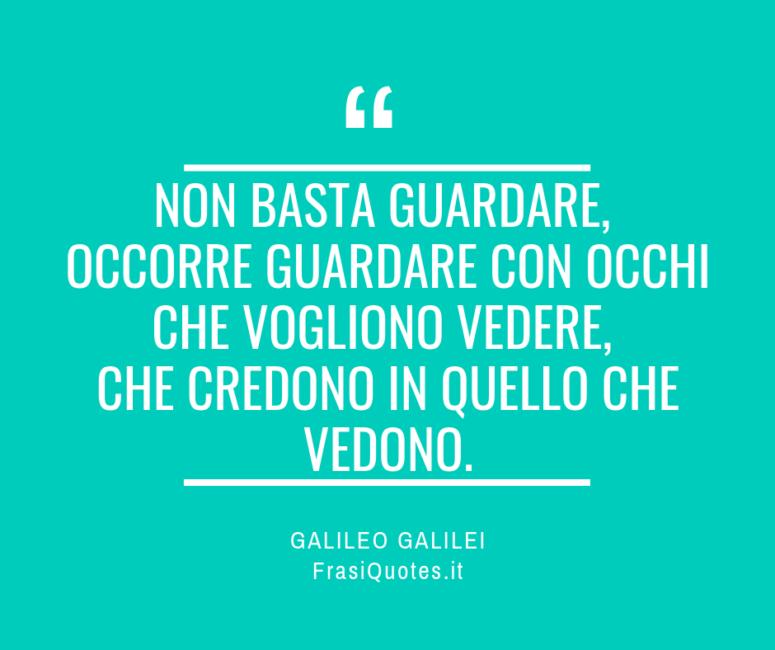 Frasi Vita Galileo Galilei
