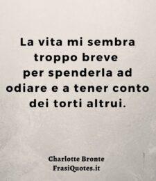 Frasi sull'odio Charlotte Bronte | Frasi brevi sulla vita