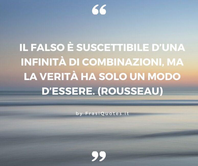 Rousseau Frasi sulla Verità