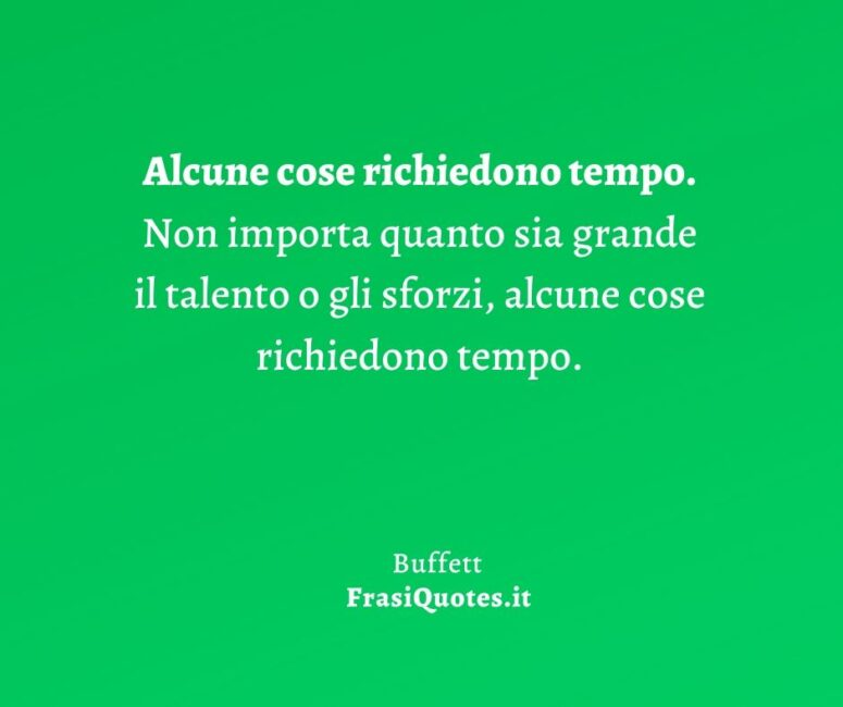 Buffett Frasi business