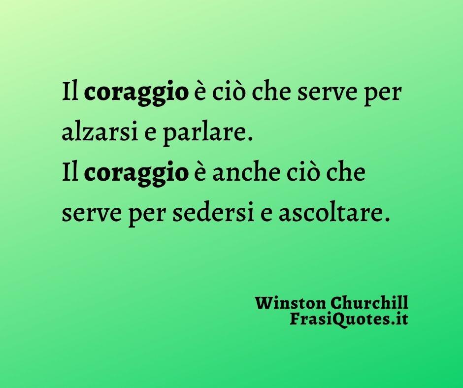 Frasi Belle sul Coraggio | Frasi Winston Churchill