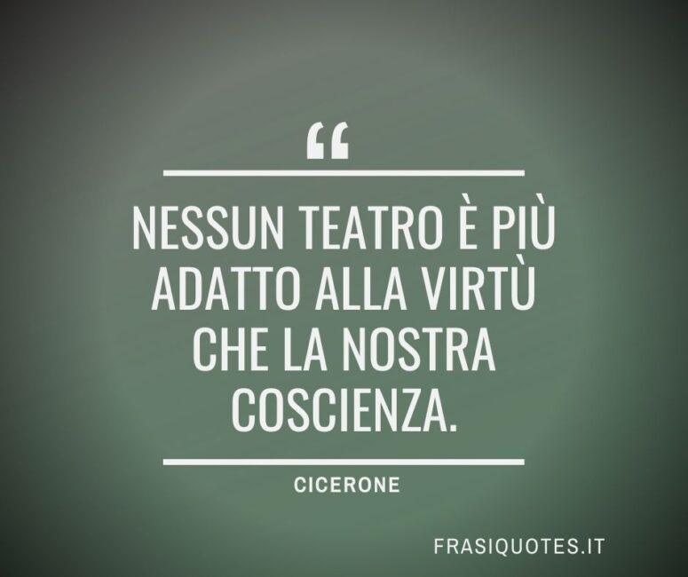 Citazioni Latine di Cicerone sulla coscienza