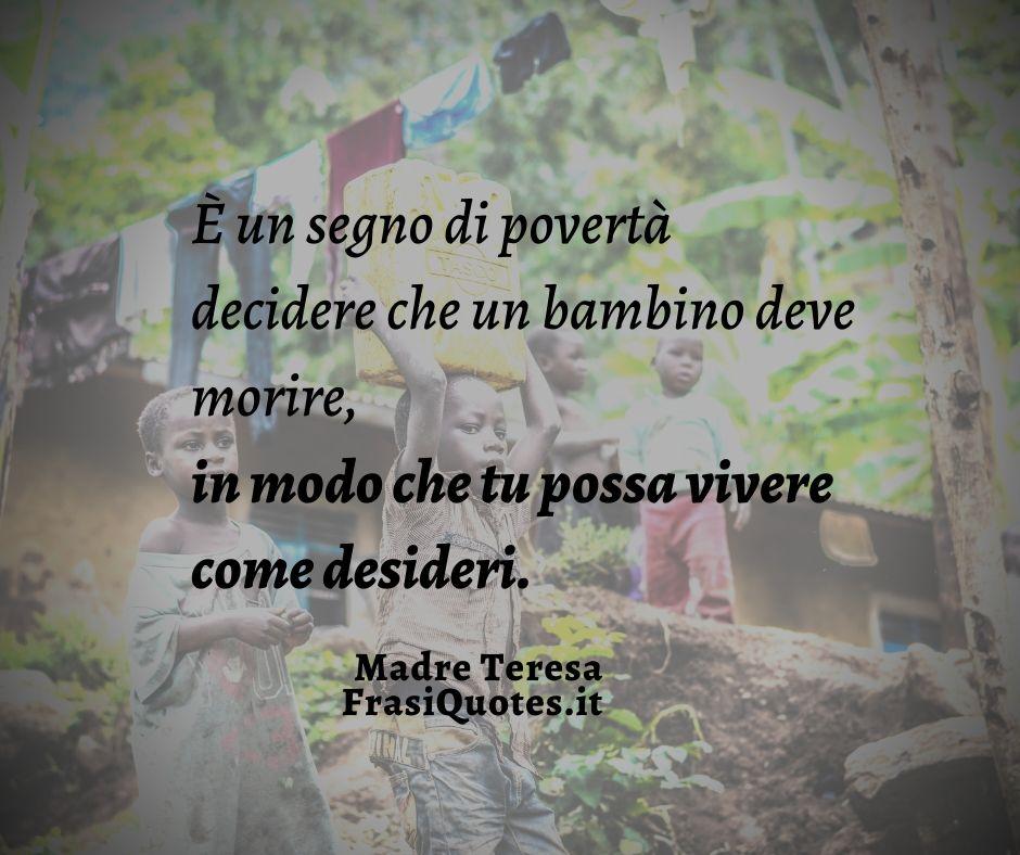 Frasi Bellissime Con Immagine Di Madre Teresa Frasi Sulla Vita