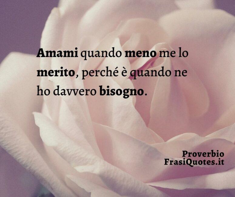 Proverbio sull'amore _ Frasi per post su Instagram